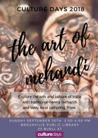 CULTURE DAYS ~ The Art of Mehandi