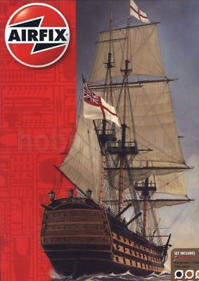 Hms Victory Gift Set - HMS VICTORY (W/ACRYLIC PAINTS, BRUSHES AND CEMENT) #50049 1/180 AIRFIX GIFT SET