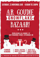 LAST CALL FOR VENDORS- peopleCare A.R. Goudie Christmas Bazaar