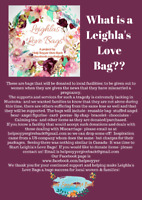 Leighla's Love Bags for moms who miscarry