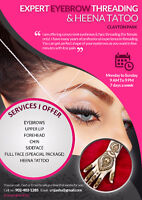 $5* Jash Eyebrows Threading ,Waxingand Henna Tattoo*Lacewood Dr