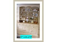 "Country kitchen, waxed Welsh dresser 52"" vintage,shabby chic"