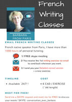 FRENCH WRITING ONLINE CLASSES : 6 CAD