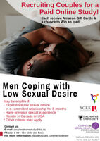 Online study on low sexual interest – paid research opportunity!
