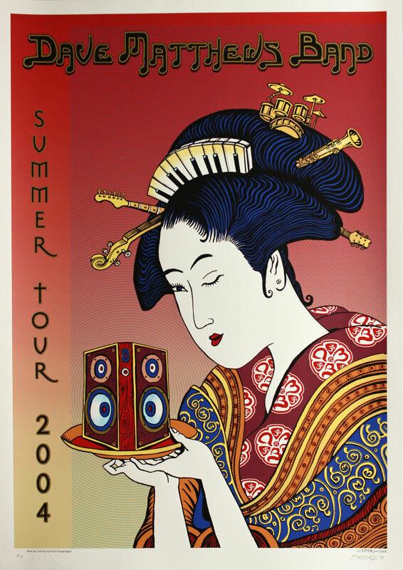 Dave Matthews Band 2004 Summer Tour Poster by Emek SCARCE Signed Artist
