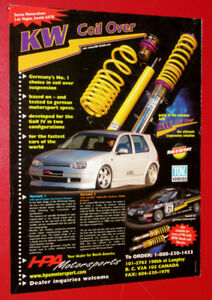 1999 KW COIL OVER SUSPENSION HPA AD FOR VW GOLF TUNER RETRO