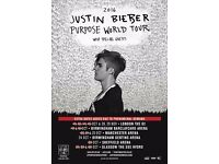 Justin Bieber Tickets, Birmingham 18th October 2016 - £160 each