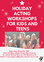 Holiday Acting Workshops for Kids and Teens with Lisa Meuser