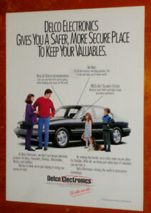 1991 DELCO ELECTRONICS AD WITH 1992 PONTIAC BONNEVILLE - ANONCE