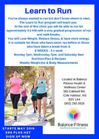 LEARN TO RUN CLINIC STARTING MAY 30TH - JOIN NOW!