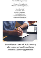 Resume, Cover-letter writing with Interview Guarantee*