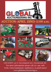 AUCTION-APRIL 22nd