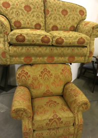Settee and armchair