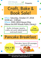 Craft, Bake & Book Sale!