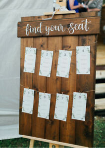 Wedding Rustic Wooden Seating Chart