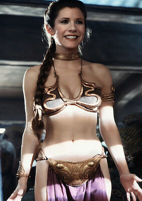 Movie PHOTO 8.25x11.75 Princess Leia Carrie Fisher Jabba's Slave Bikini 03