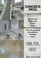 Concrete and Landscaping - new driveway or yard one call away