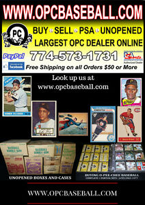 OPC Baseball sports cards and more! O Pee Chee sets PSA raw