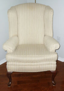 Ivory Wing Back Chair