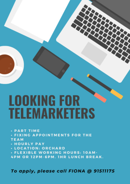 Urgently looking for telemarketers.