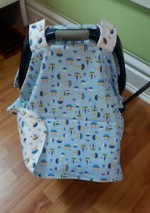 car seat cover, bib and burp pad sets