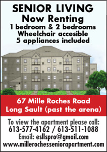 NEW SENIOR APARTMENT FOR RENT IN LONG SAULT