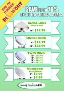 Built in LED ceiling fixtures starting at only: $9.99/ea