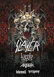 Slayer Lamb of God Anthrax,Beh.Test BELOW COST-May 29-ROW 6 WOW