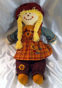 Hand Made Sally Scarecrow dolls