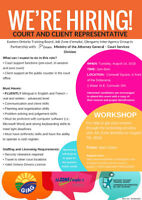 Job Fair - Court & Client Representatives