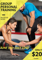 8 Week Group Personal Training ONLY $20/session