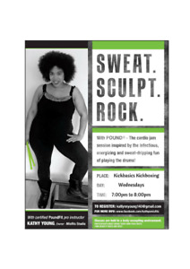 Free 45 Minute Pound Class/Must register by April 22nd.