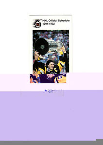 The Mutual Group NHL schedule 1991-1992 unmarked Mario Lemieux