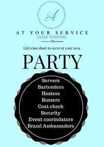 At Your Service event staffing is Bartenders/Servers