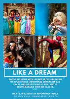 Like a Dream! Photo session with a Princess or Super Hero