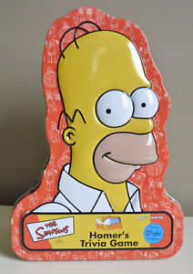 The Simpsons Homer's Trivia Game Collectible Tin 100% Complete