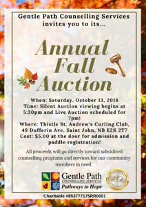 Gentle Path's Fall Auction