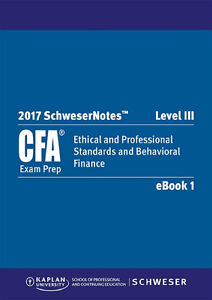 2017 cfa level 3 study package and practice Exam