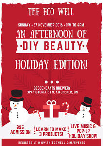 An Afternoon of DIY Beauty, Holiday Edition! Kitchener / Waterloo Kitchener Area image 1