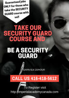 Security Guard Training with First aid and CPR