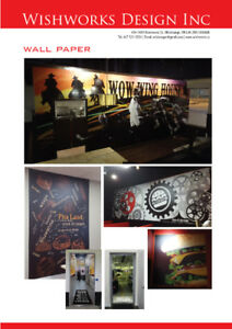WALL PAPER & DIGITAL PRINT DESIGN - PRODUCTION - INSTALLATION