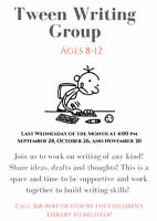 Tween Writing Group - Confederation Centre Public Library