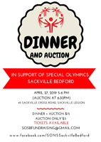 Beef Dinner + Auction for Special Olympics Sackville/Bedford