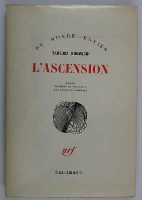 Tadeusz Konwicki, L'ascension, NRF, Dédicace  de Georges Lisowski, (traducteur)