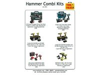 Various Combi drill sets.