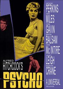 Alfred Hitchcock Psycho retro movie poster