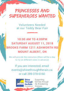 Princess and Superhero Characters Needed!