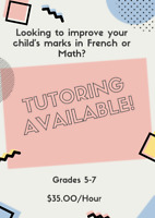 Math/French Tutoring Available