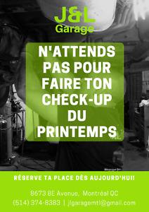 PROMOTION DE PRINTEMPS: inspection générale et pneus