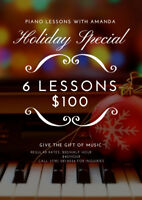 Piano Lessons- Holiday Special!